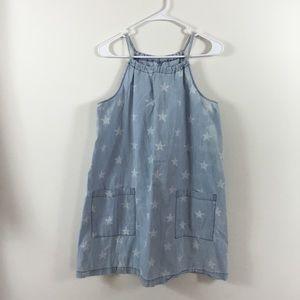 OLD NAVY STAR PRINT CHAMBRAY DRESS